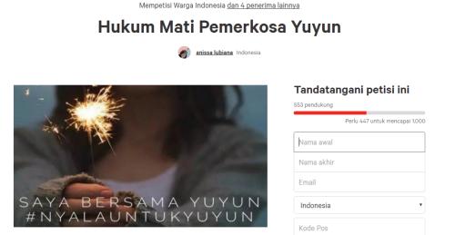 Gambar Petisi change.org